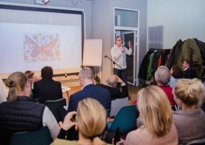Das Publikum war elementarer Teil des Vortrags von Klaus