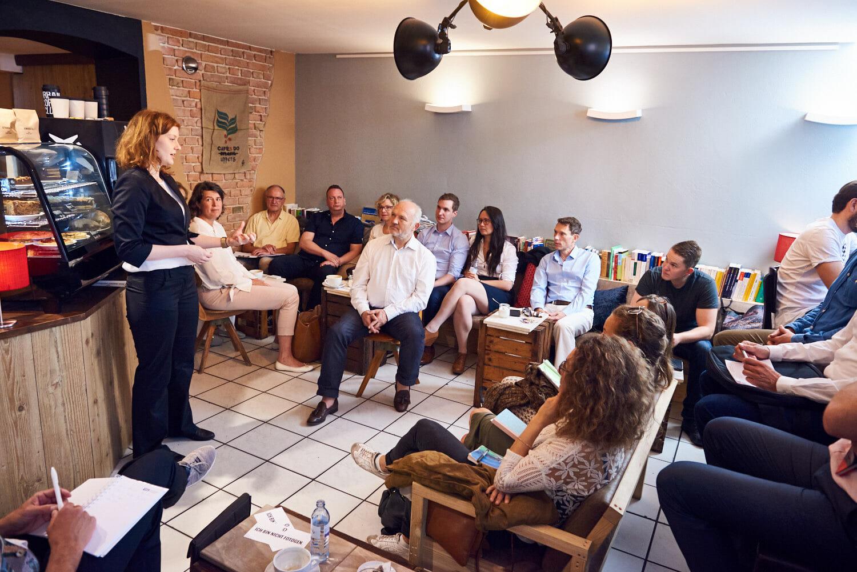 Die Gehirne unserer Teilnehmer liefen auf Hochtouren als Lisa Gibson die Goldformel für mehr Gehirnpotenzial erklärt.