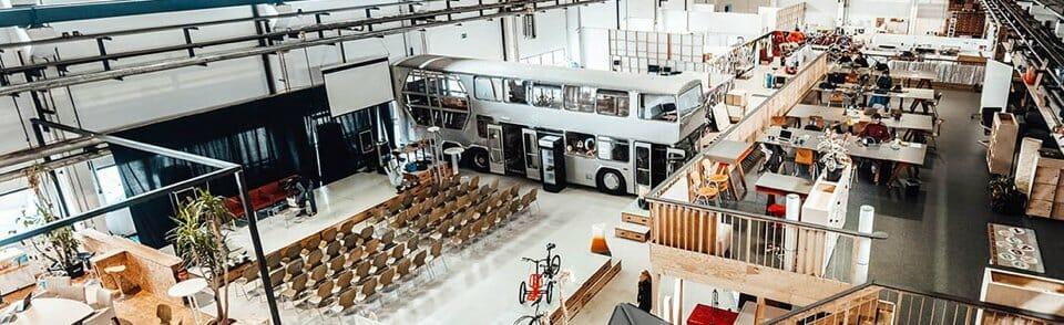 Die Halle des Motion Labs, in der unsere Veranstaltung stattfindet